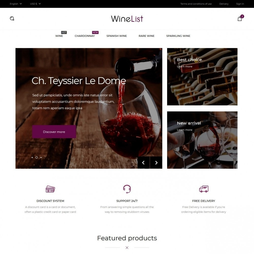 theme - Drink & Tobacco - WineList Shop - 2