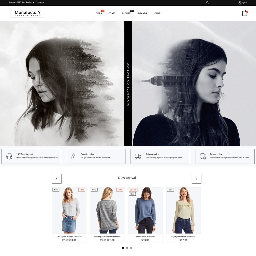 theme - Moda y Calzado - Manufactory Fashion Store - 2