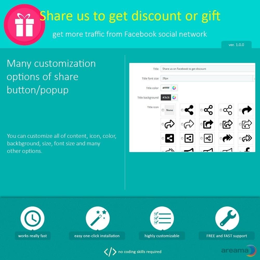 module - Кнопки 'Рассказать друзьям' и комментариев - Share us to get discount or gift - 4