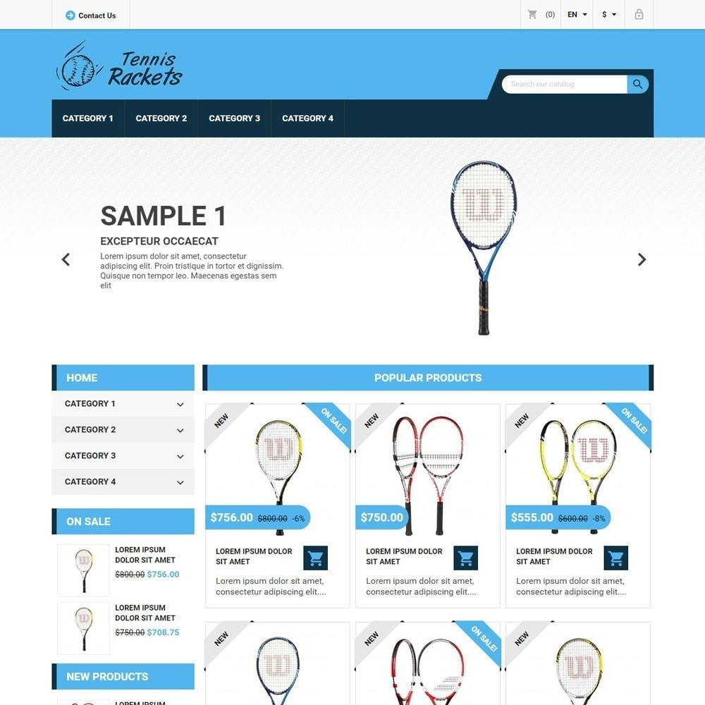 theme - Sports, Activities & Travel - TennisRackets - 1