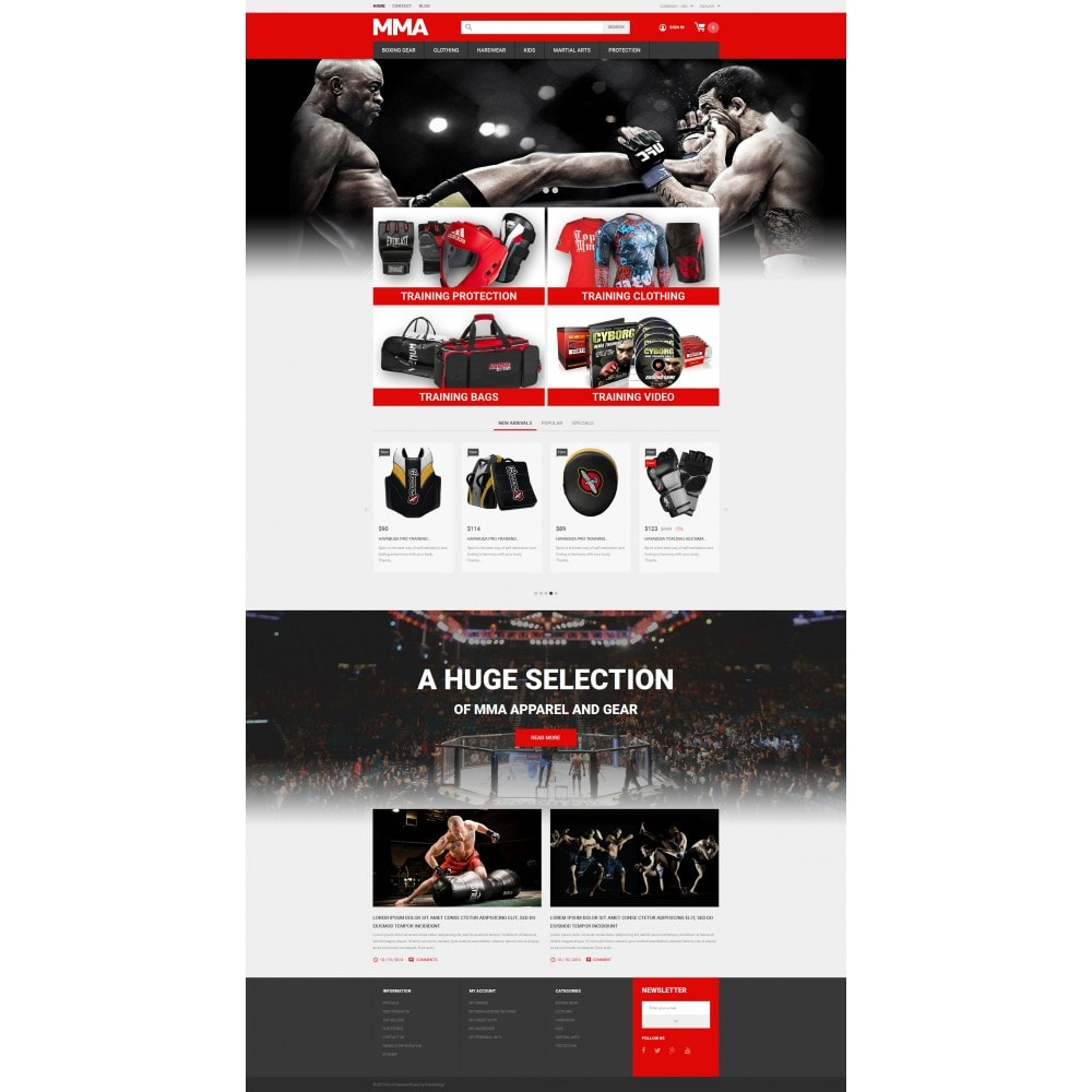 theme - Sports, Activities & Travel - MMA Outfit Store - 4