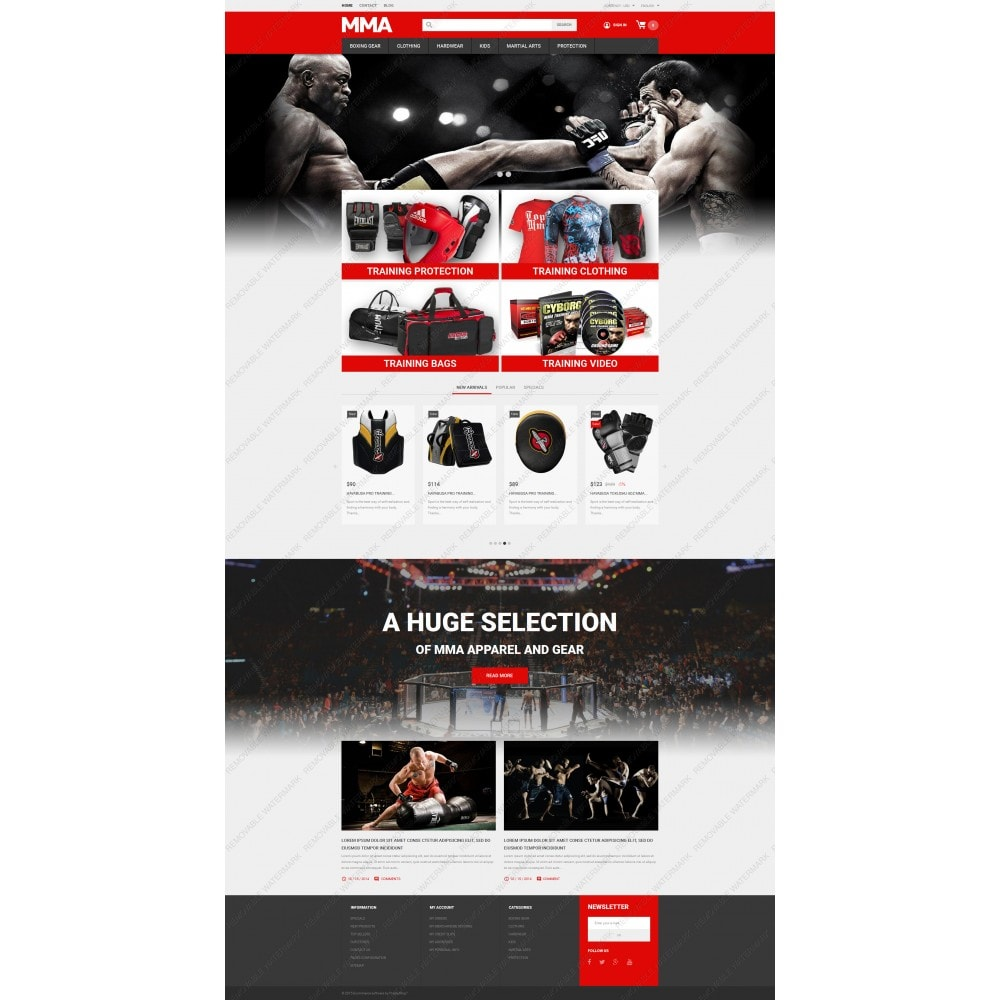 theme - Sports, Activities & Travel - MMA Outfit Store - 5