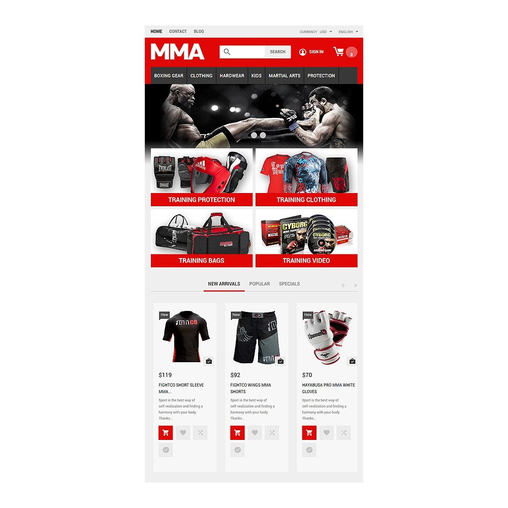 theme - Sports, Activities & Travel - MMA Outfit Store - 7
