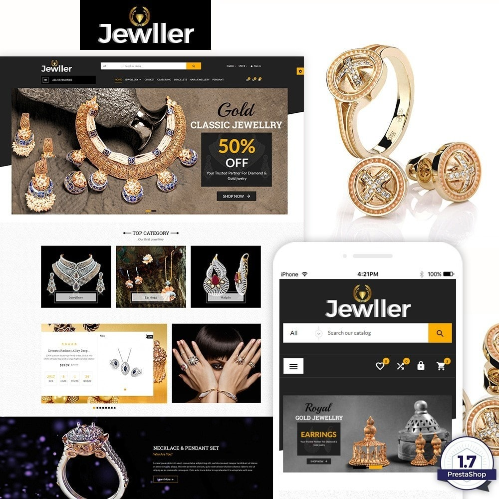 theme - Jewelry & Accessories - Jeweller Jewelry and Accessories  Super Store - 1