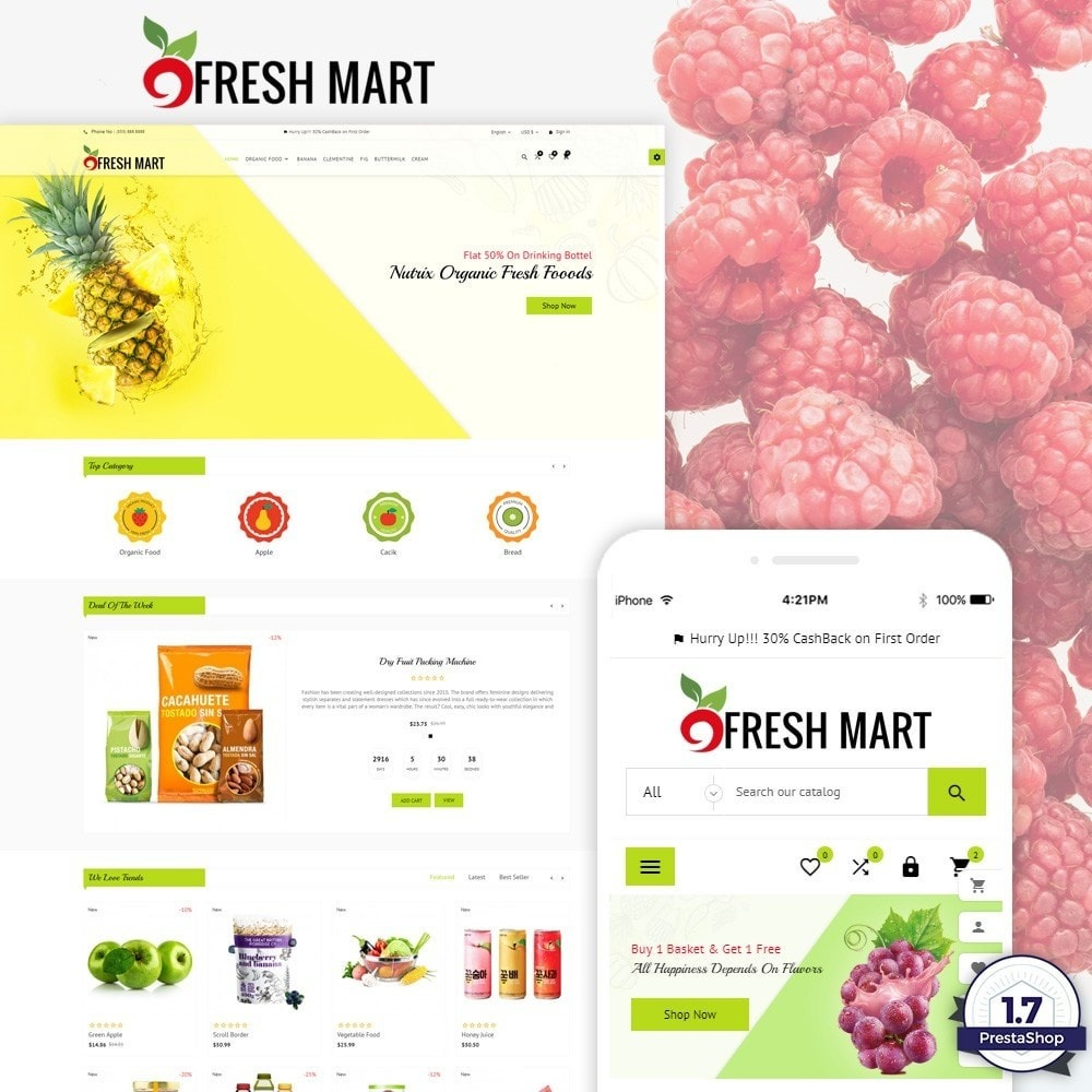 Fresh Mart – Organic Food Big Super Store