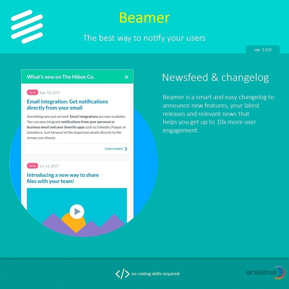 module - Блог, форумов и новостей - Beamer – The best way to notify your users - 2