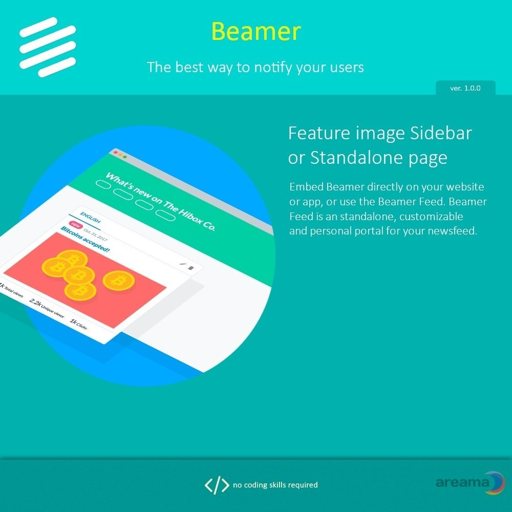 module - Блог, форумов и новостей - Beamer – The best way to notify your users - 8