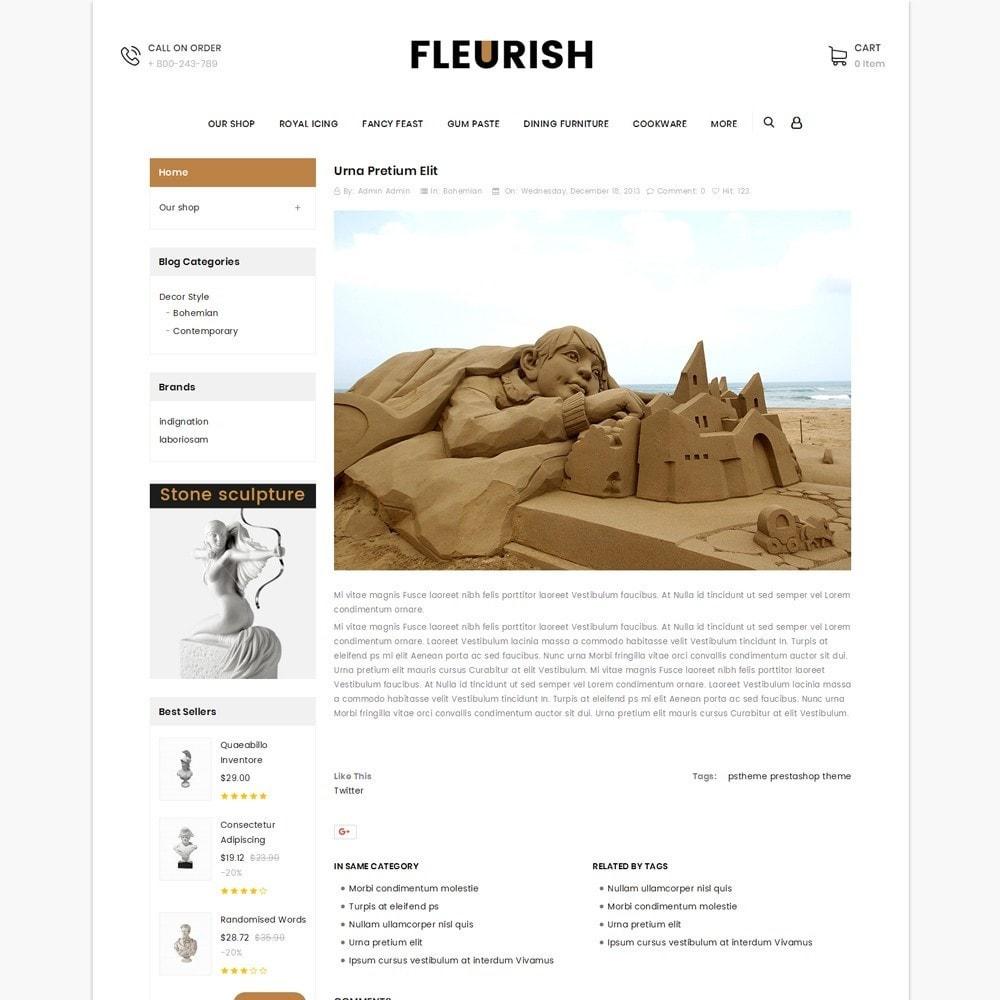 theme - Искусство и Культура - Fleurish - Art Shop - 7