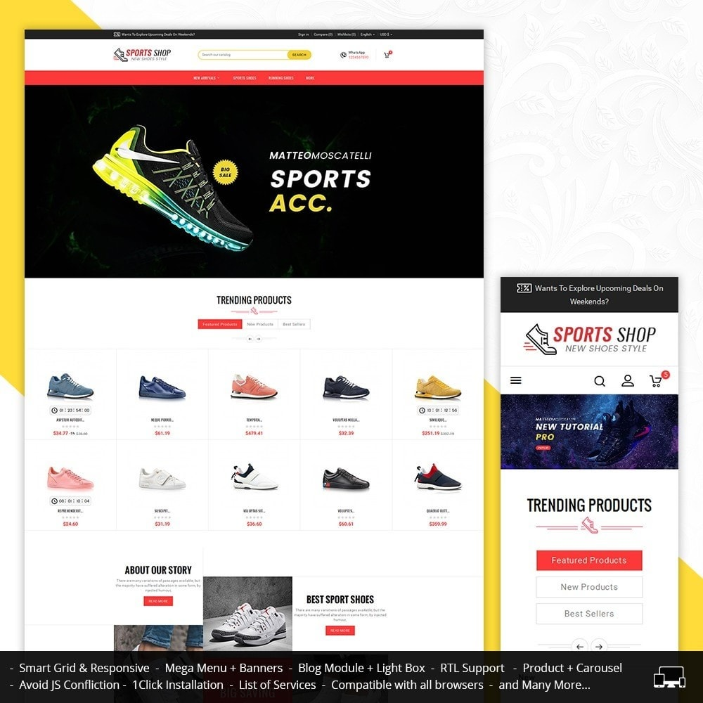 theme - Sport, Loisirs & Voyage - Sport Shoes & Footwear - 2