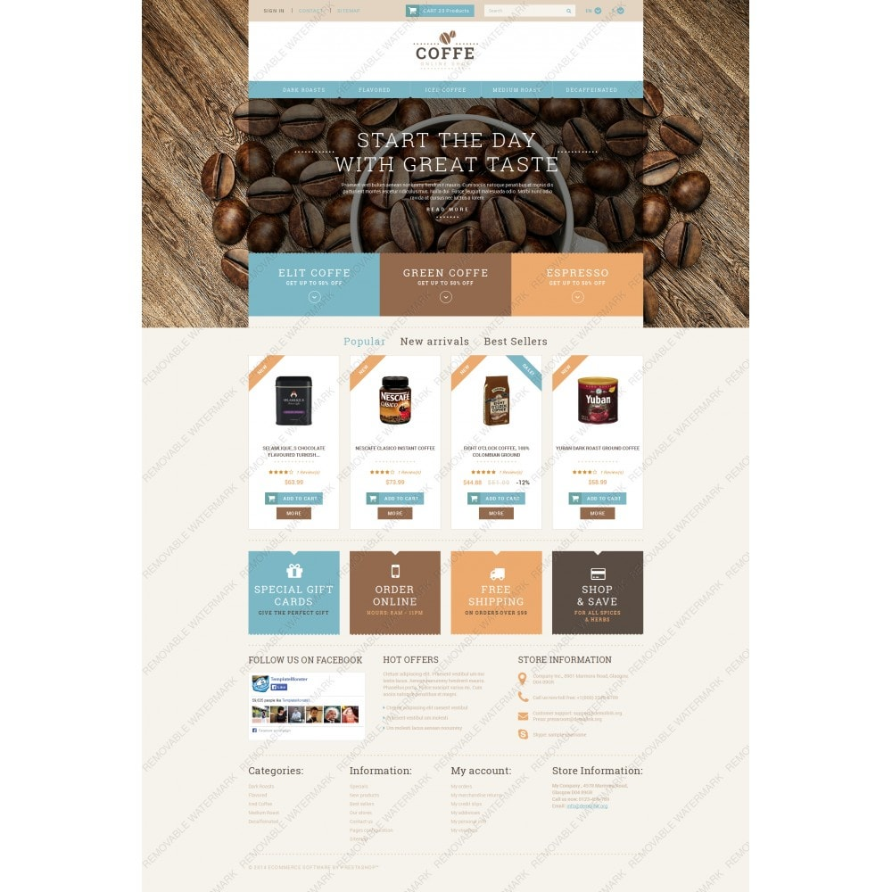 White PrestaShop Theme by WT
