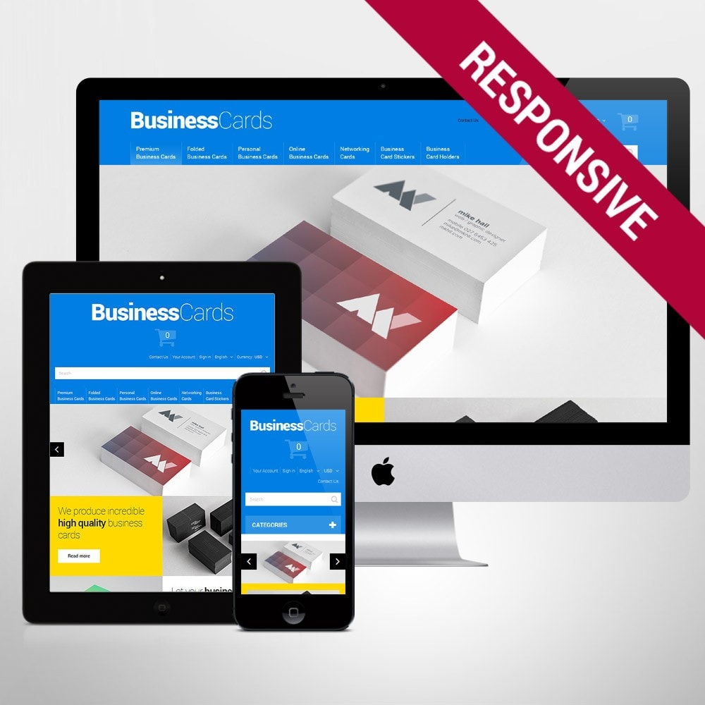 theme - Template PrestaShop - Business Cards - 1