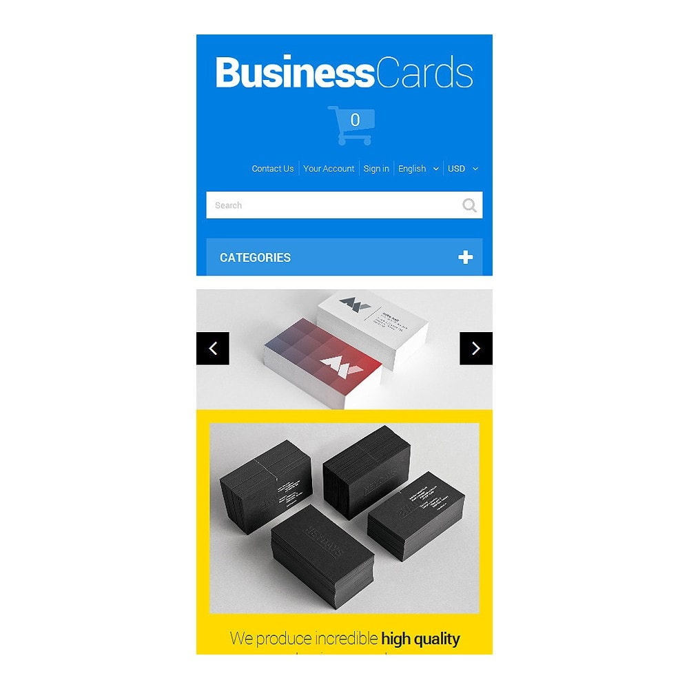 theme - Template PrestaShop - Business Cards - 8