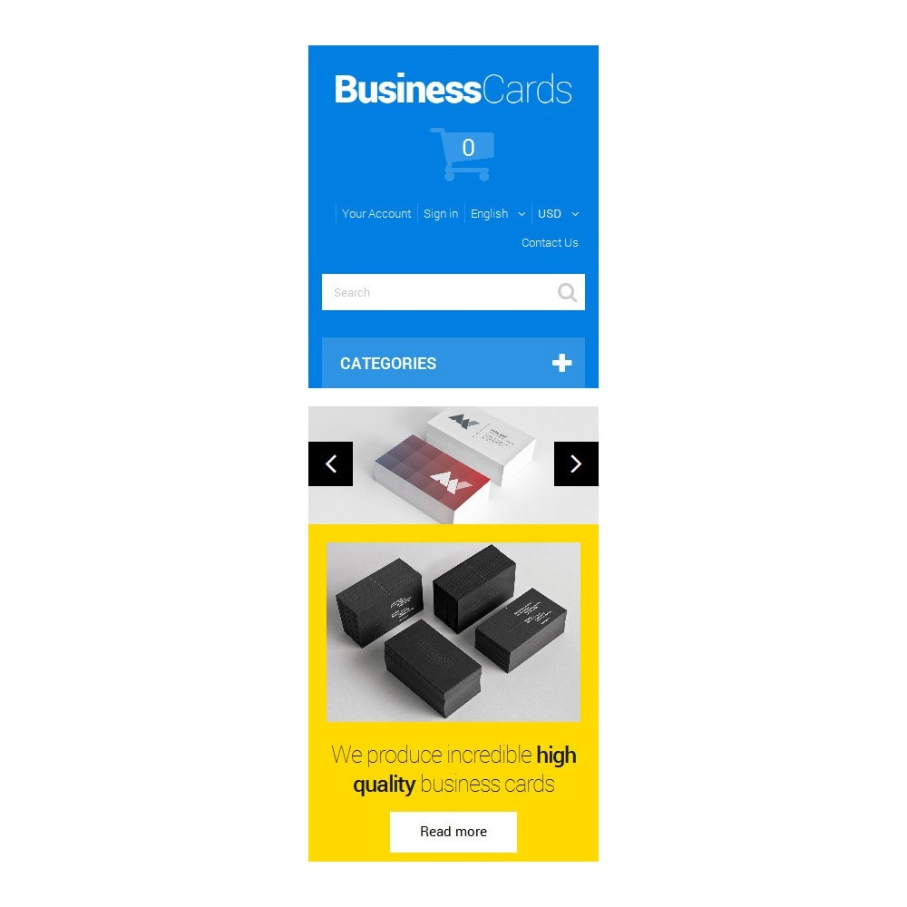 theme - Template PrestaShop - Business Cards - 9