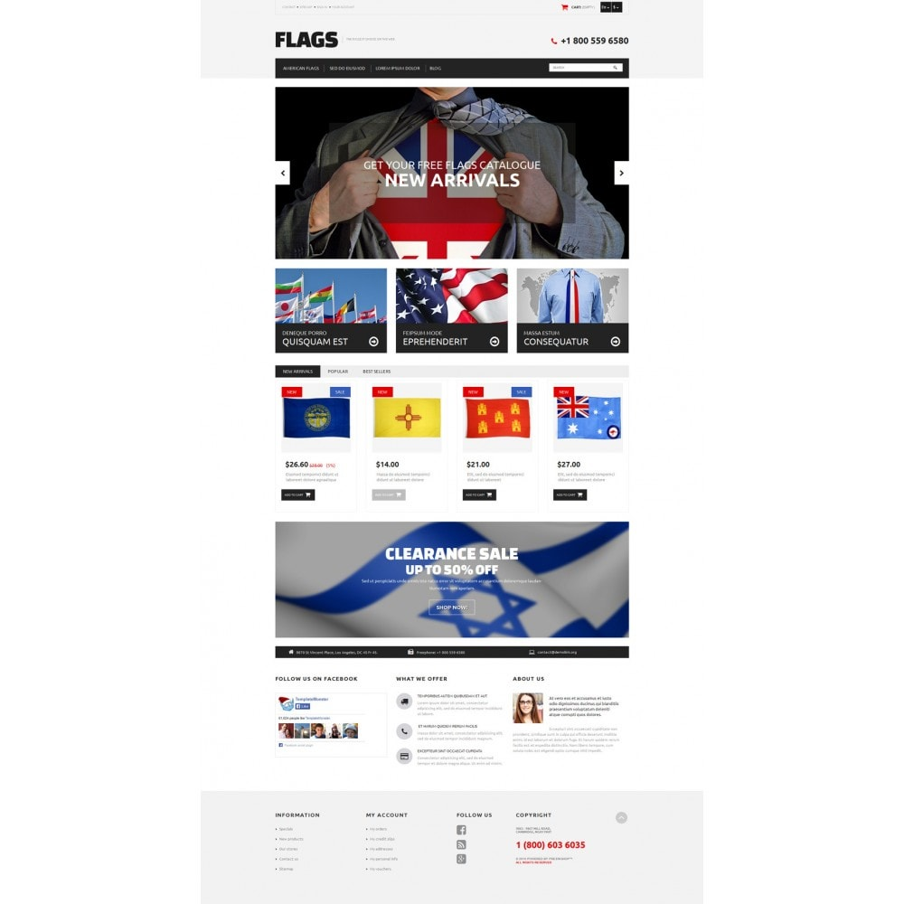 theme - PrestaShop thema's - Flag Shop - 2