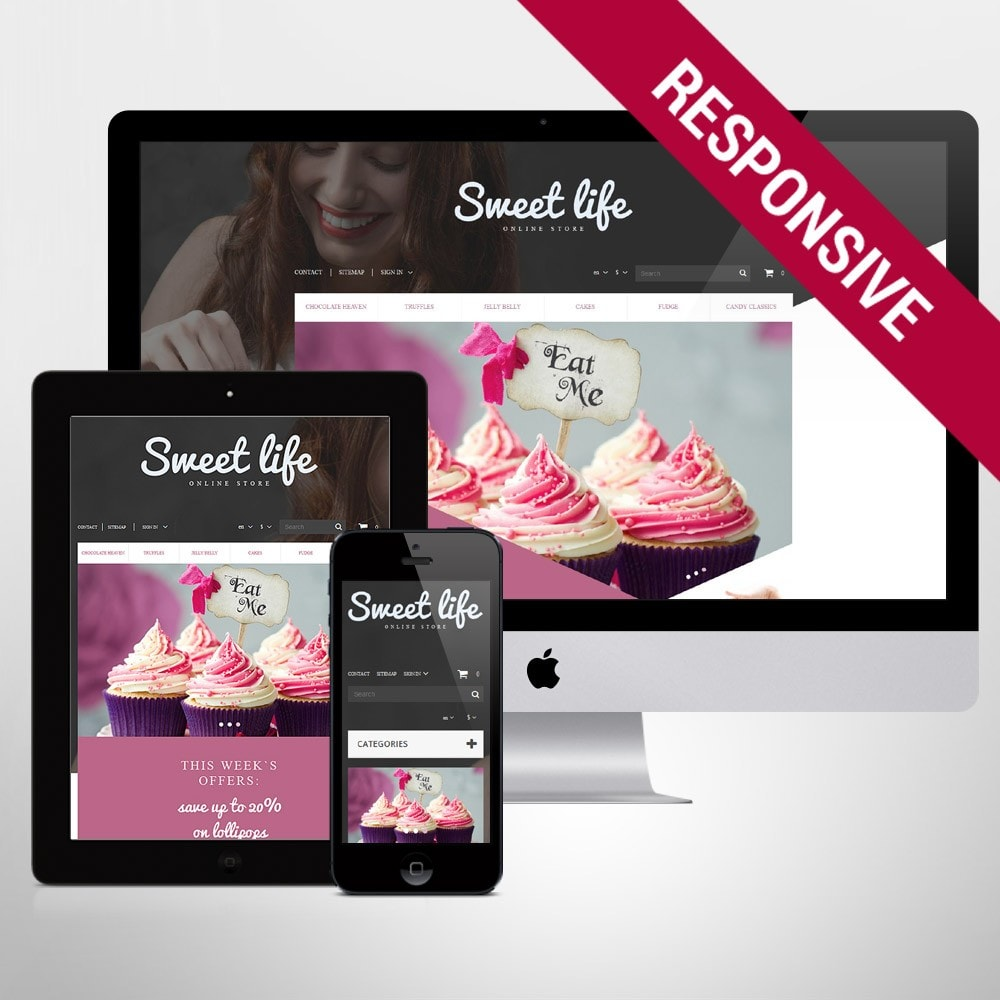theme - Lebensmittel & Restaurants - Sweets Shop - 1