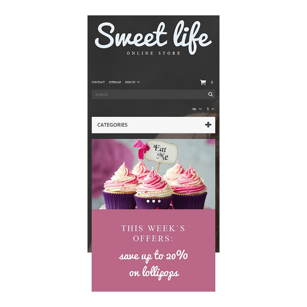 theme - Lebensmittel & Restaurants - Sweets Shop - 8