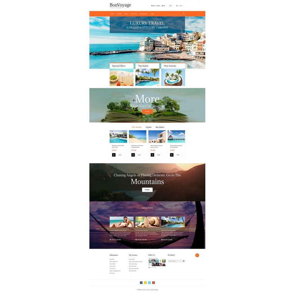 theme - Sports, Activities & Travel - BonVoyage - 2