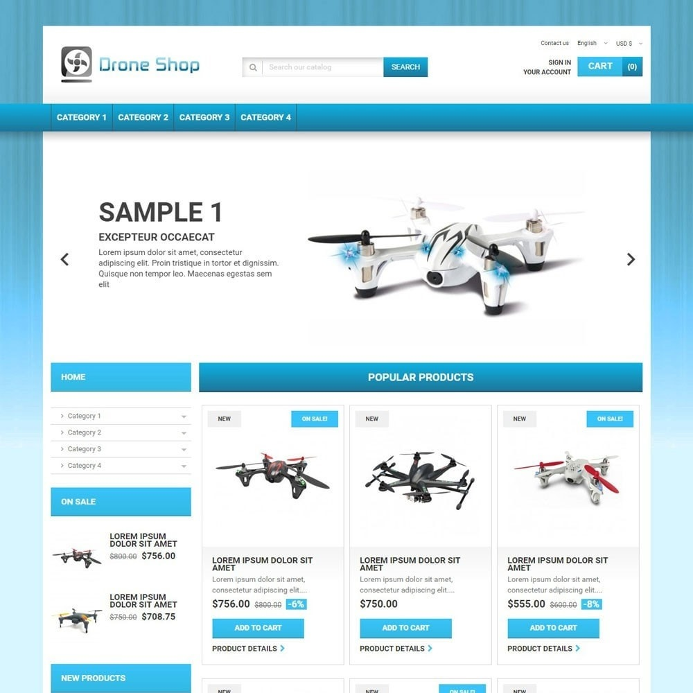 theme - Sports, Activities & Travel - DroneShop - 1