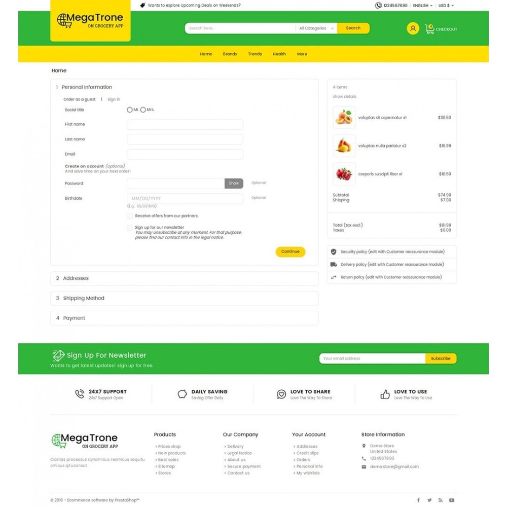 theme - Lebensmittel & Restaurants - Mega Trone Grocery - 8