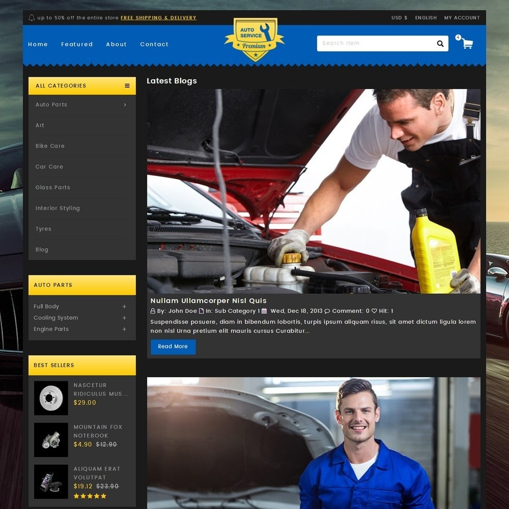 theme - Carros & Motos - Auto Service - Premium Store - 6