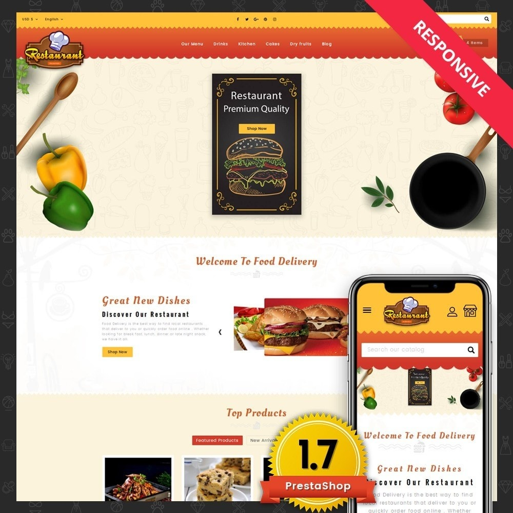 Restaurant Food Store