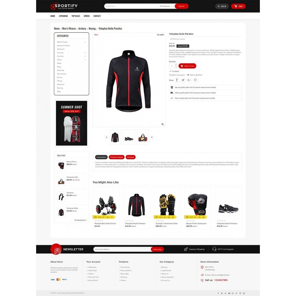 theme - Deportes, Actividades y Viajes - Mega Shoppe Sports - 6