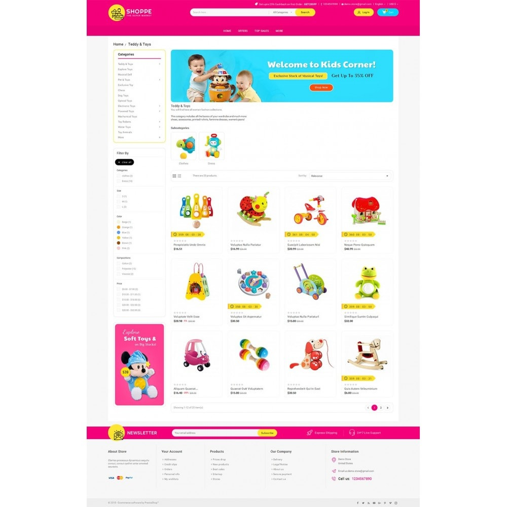 theme - Niños y Juguetes - Mega Shoppe Kid Toys - 4