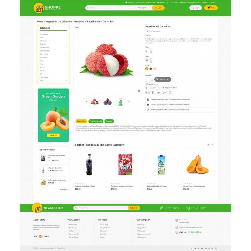 theme - Alimentation & Restauration - Mega Shoppe Grocery - 6