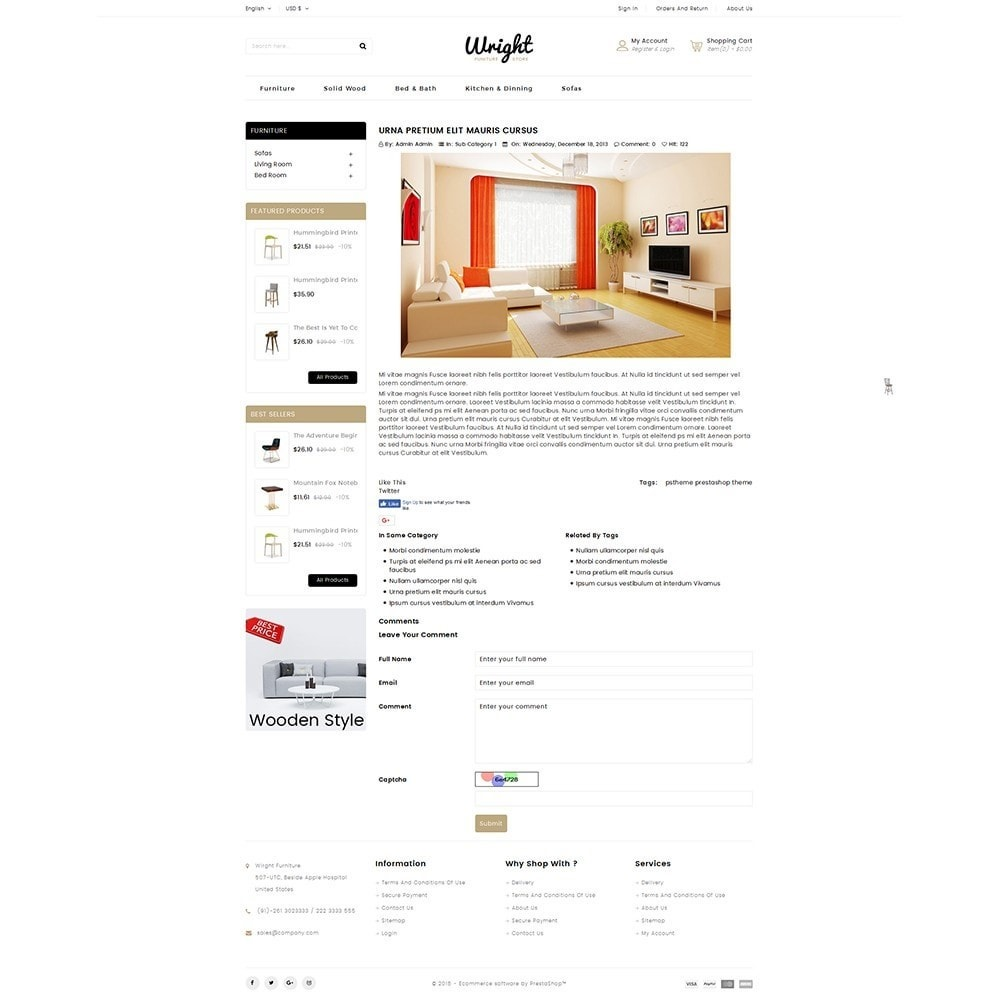 theme - Дом и сад - Wright Furniture Store - 6