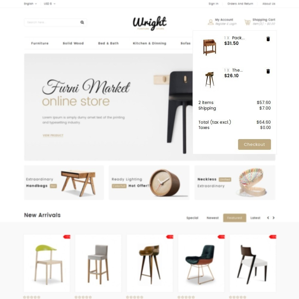 theme - Дом и сад - Wright Furniture Store - 8