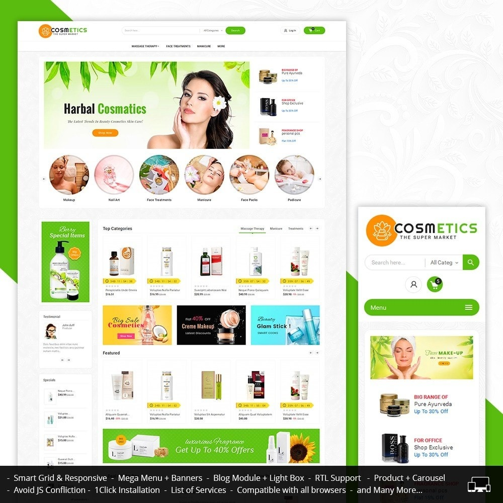 theme - Salute & Bellezza - Mega Shoppe Bio Cosmetics - 2