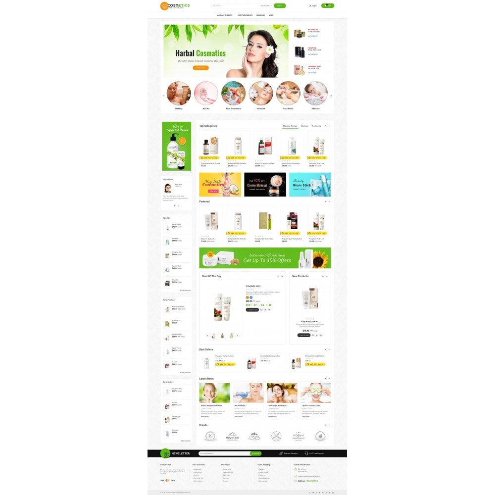theme - Salute & Bellezza - Mega Shoppe Bio Cosmetics - 3