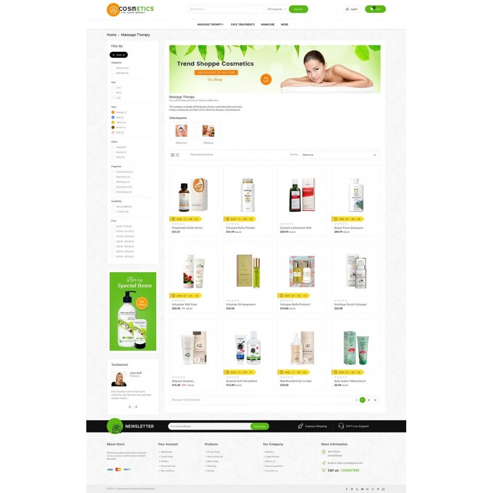 theme - Salute & Bellezza - Mega Shoppe Bio Cosmetics - 4