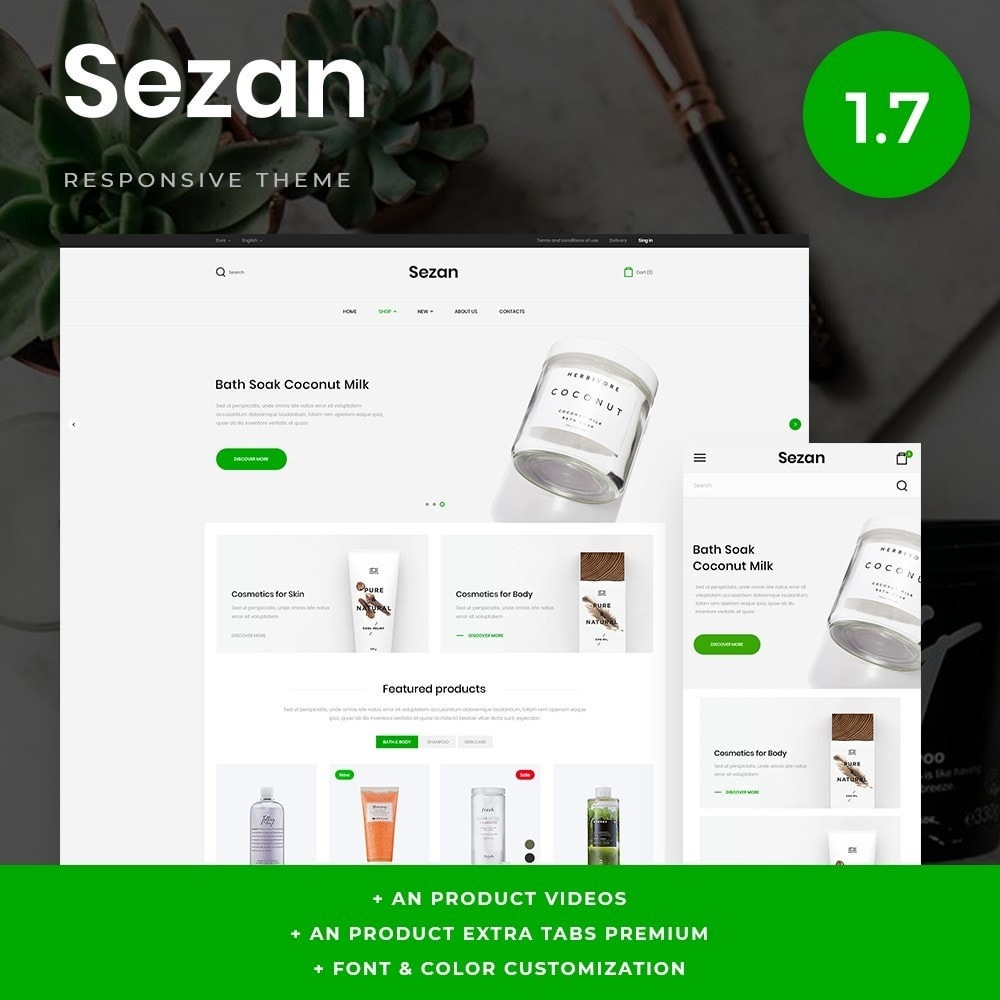 theme - Salute & Bellezza - Sezan Cosmetics - 1
