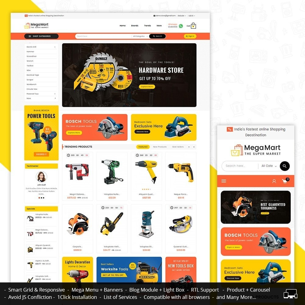 Mega Mart Tools Equipment