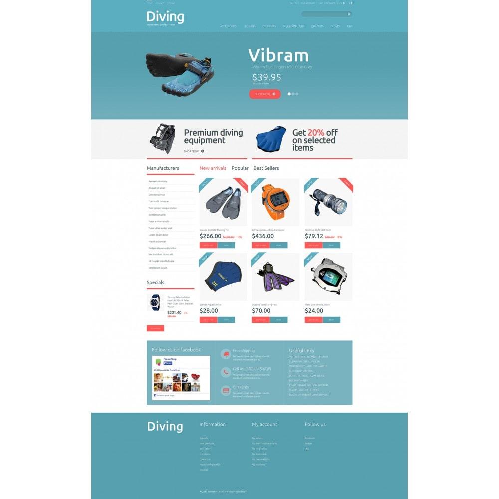 theme - Спорт и Путешествия - Diving Shop - 2