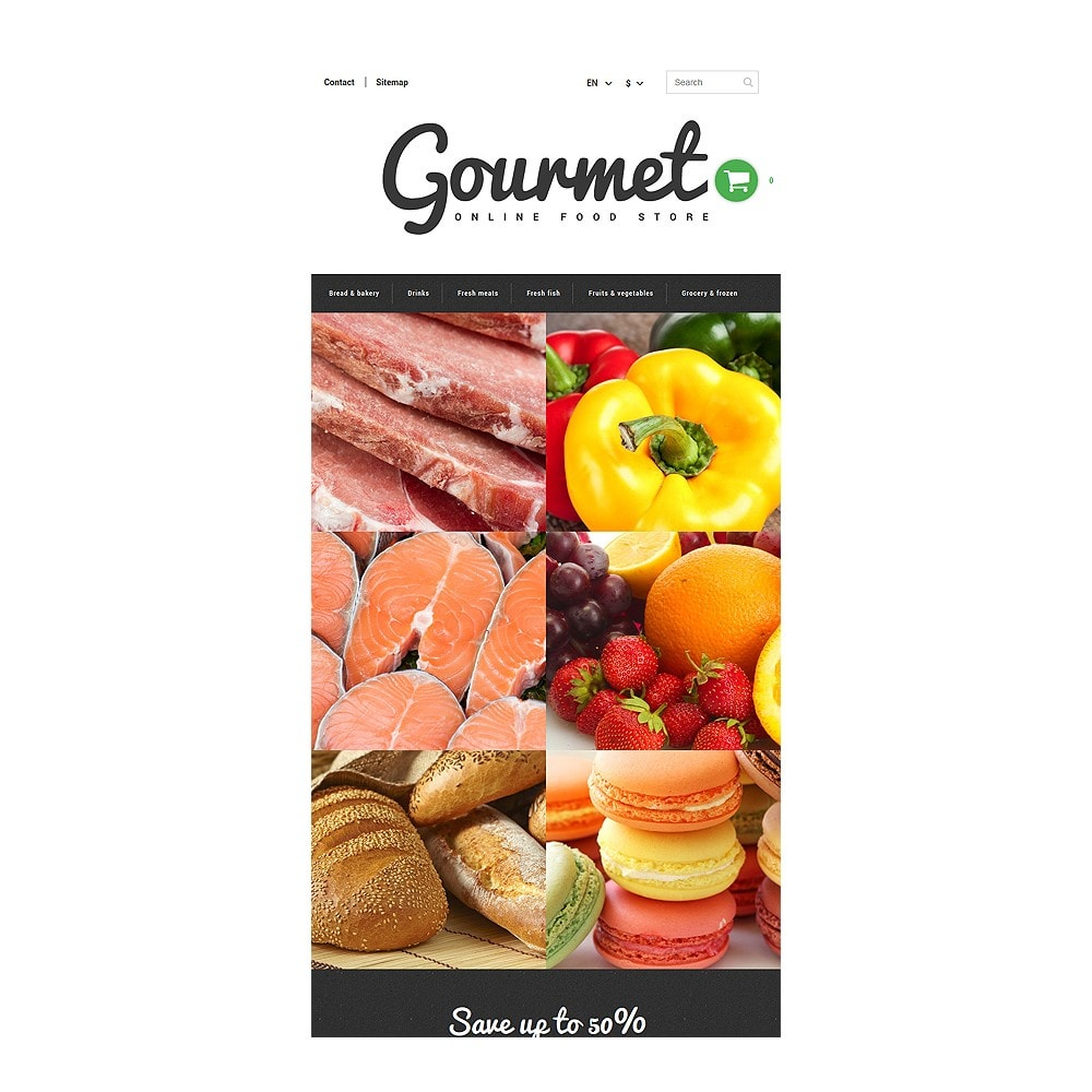 theme - Alimentos & Restaurantes - Food Shop - 8