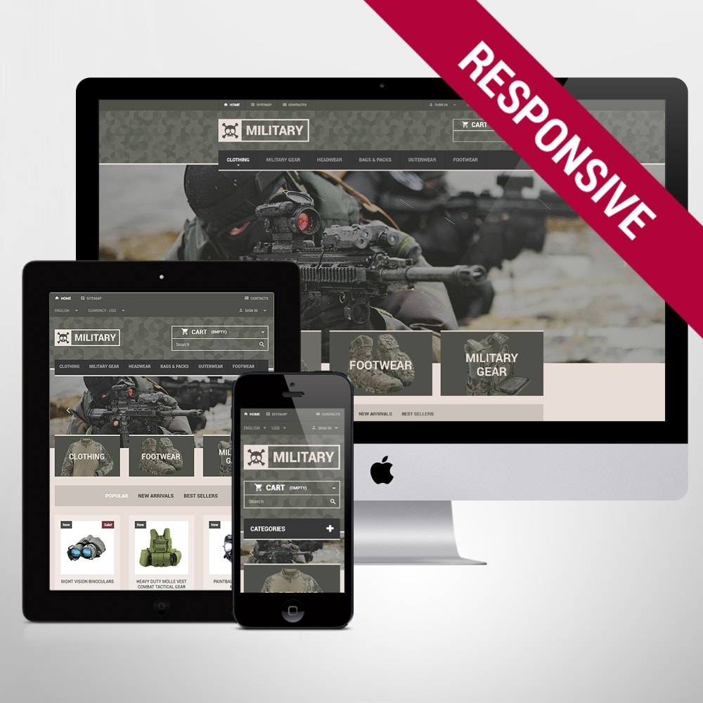 theme - PrestaShop Szablony - Military Gear Store - 1