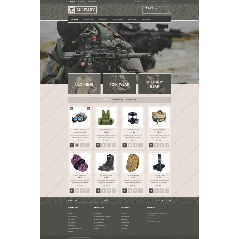Military Gear Store