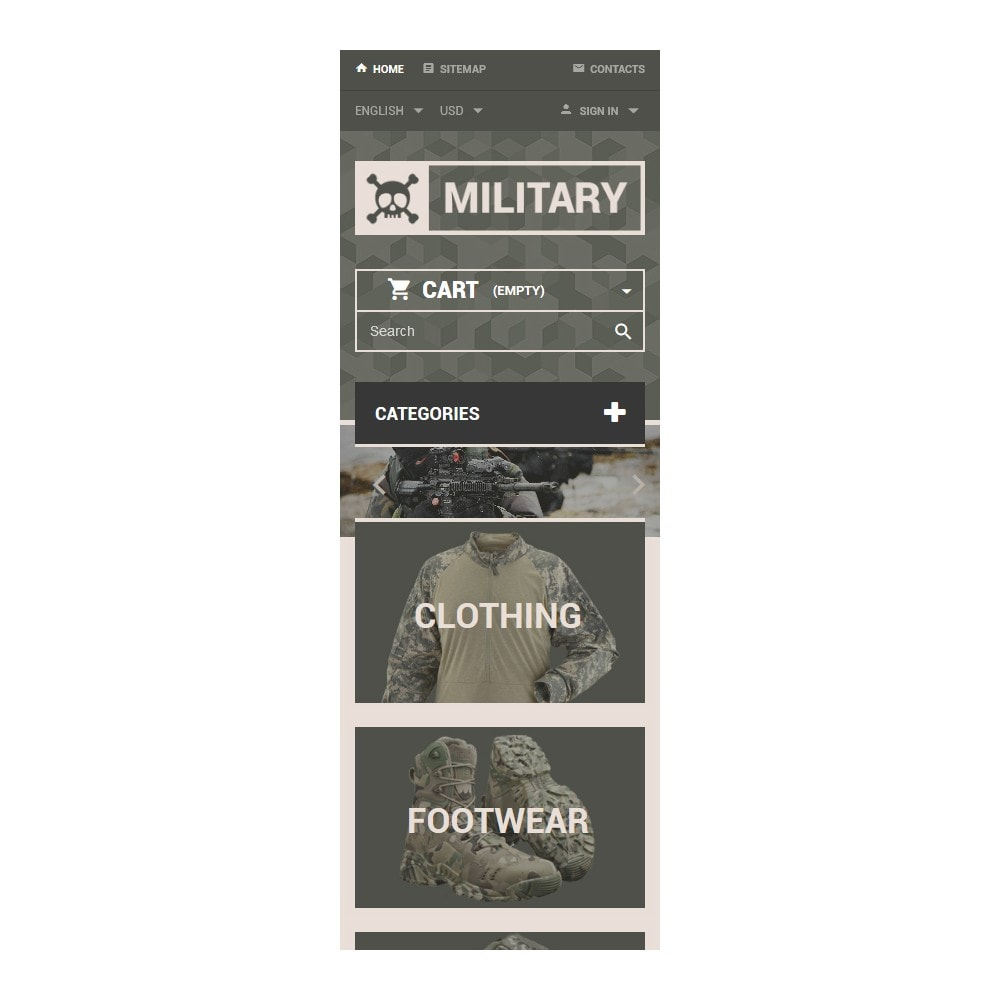 theme - PrestaShop Templates - Military Gear Store - 9