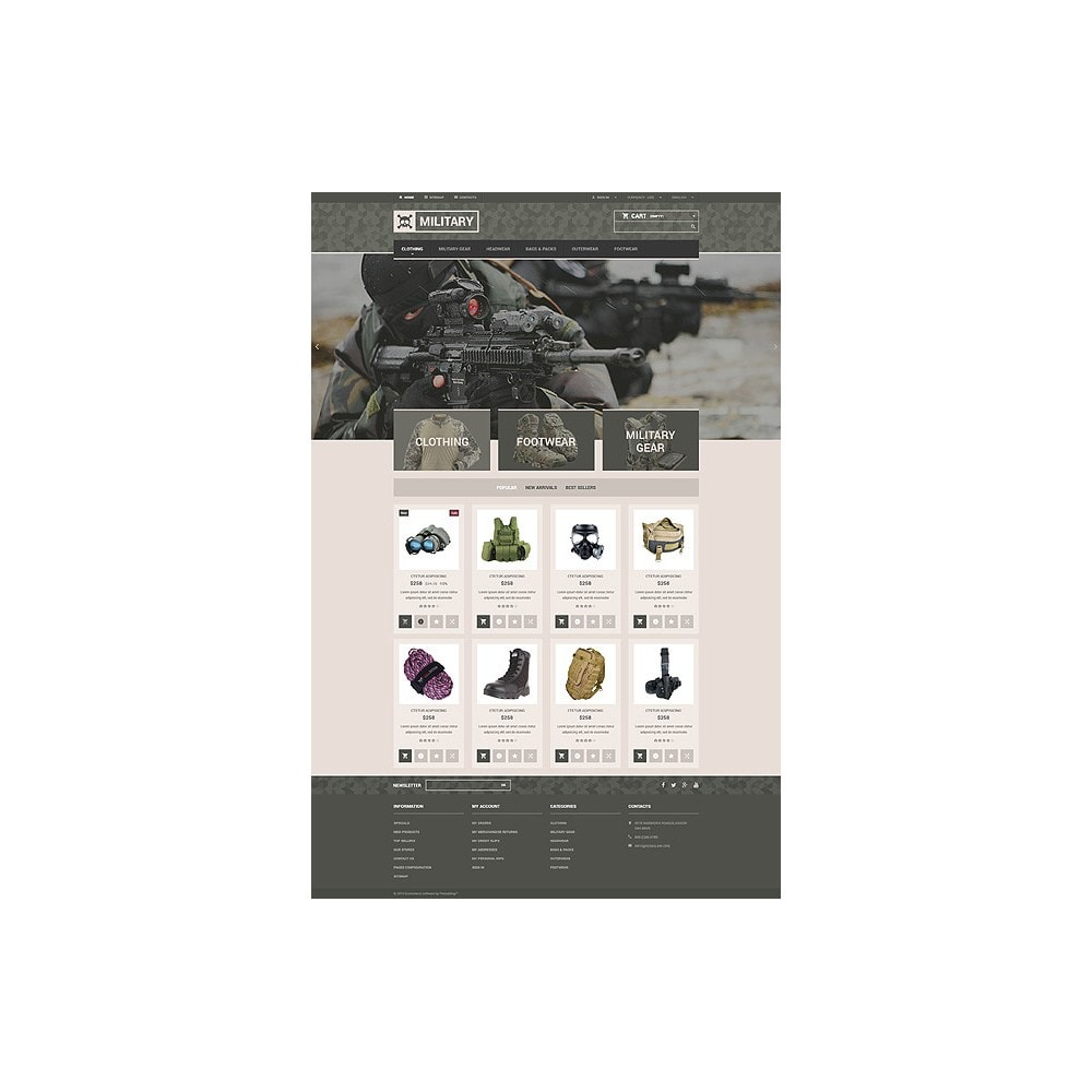 theme - PrestaShop Templates - Military Gear Store - 10