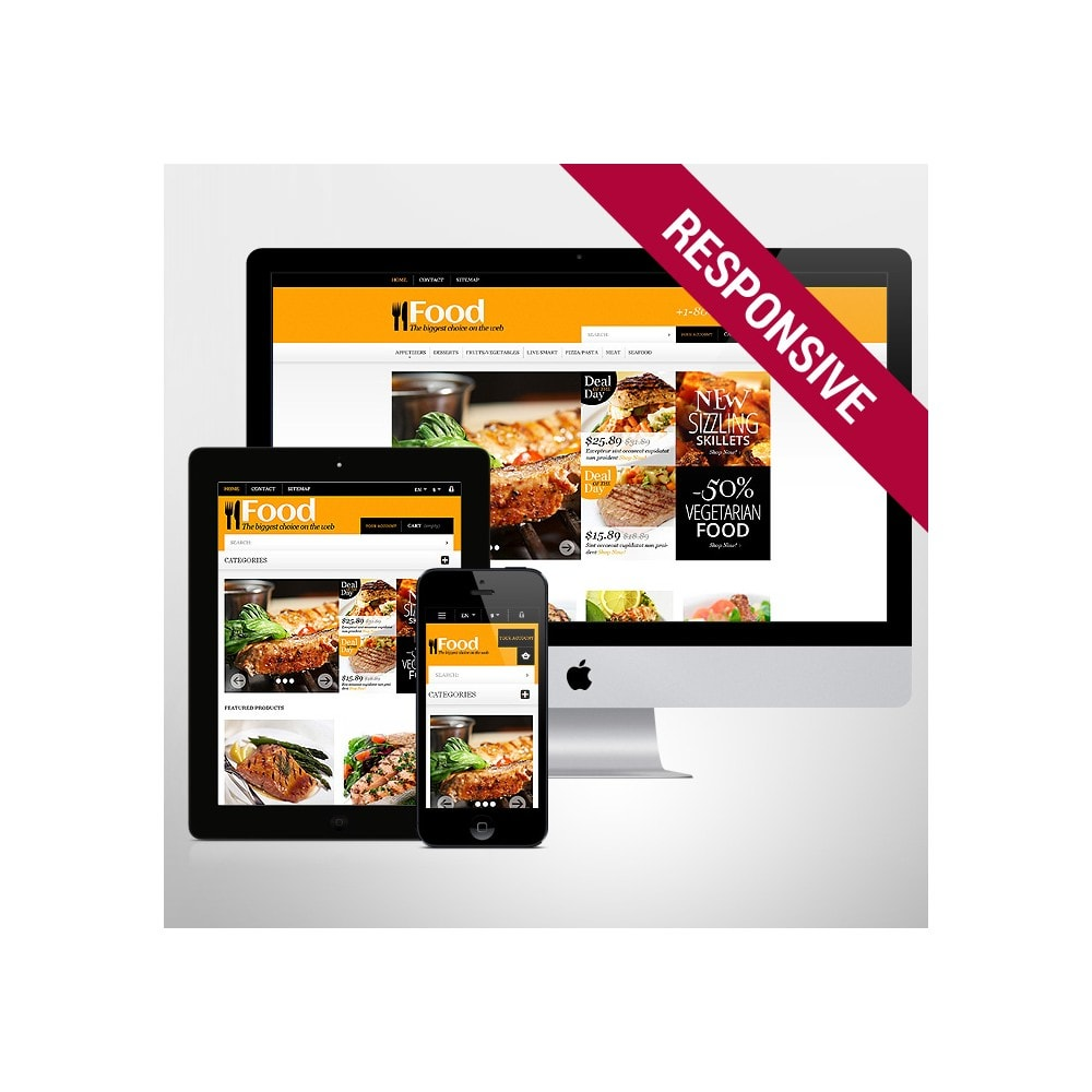 theme - Lebensmittel & Restaurants - Online Orders of Meals - 1