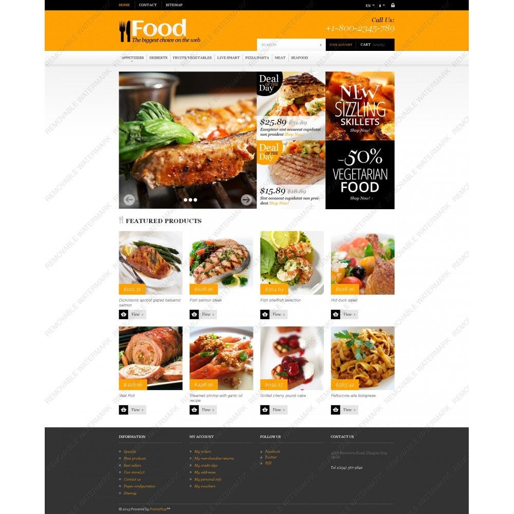 theme - Lebensmittel & Restaurants - Online Orders of Meals - 3