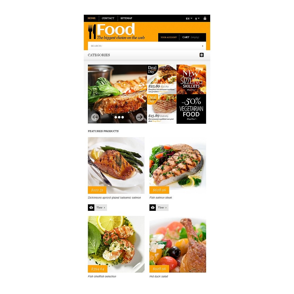 theme - Lebensmittel & Restaurants - Online Orders of Meals - 7