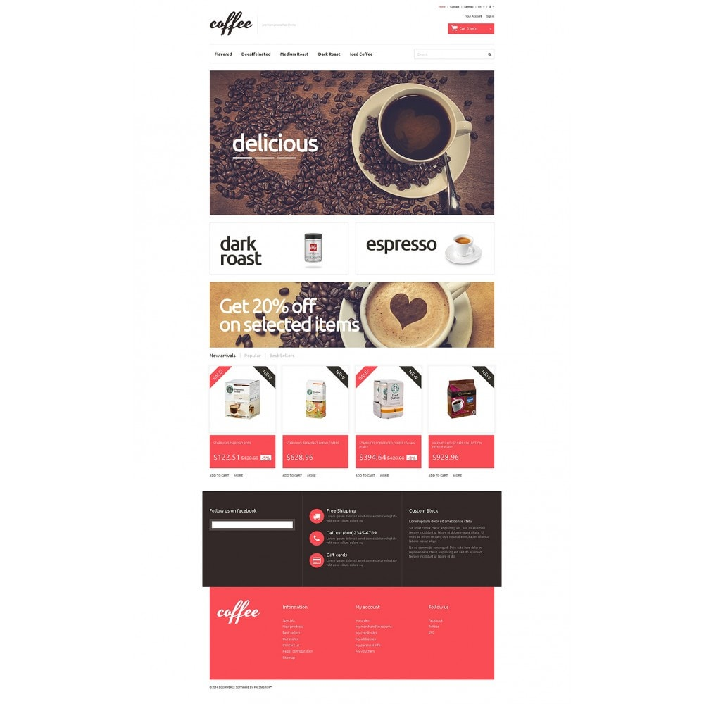 theme - Food & Restaurant - Coffee Maniacs - 2
