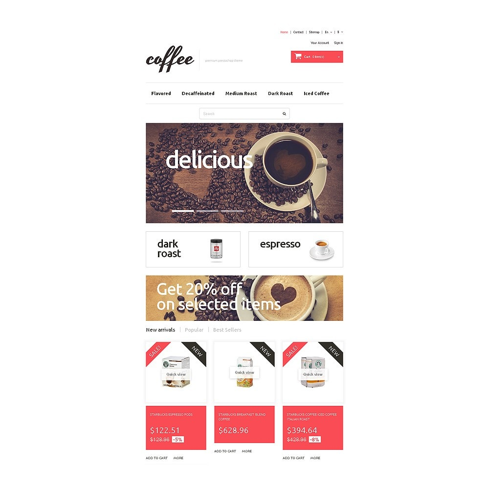 theme - Food & Restaurant - Coffee Maniacs - 7