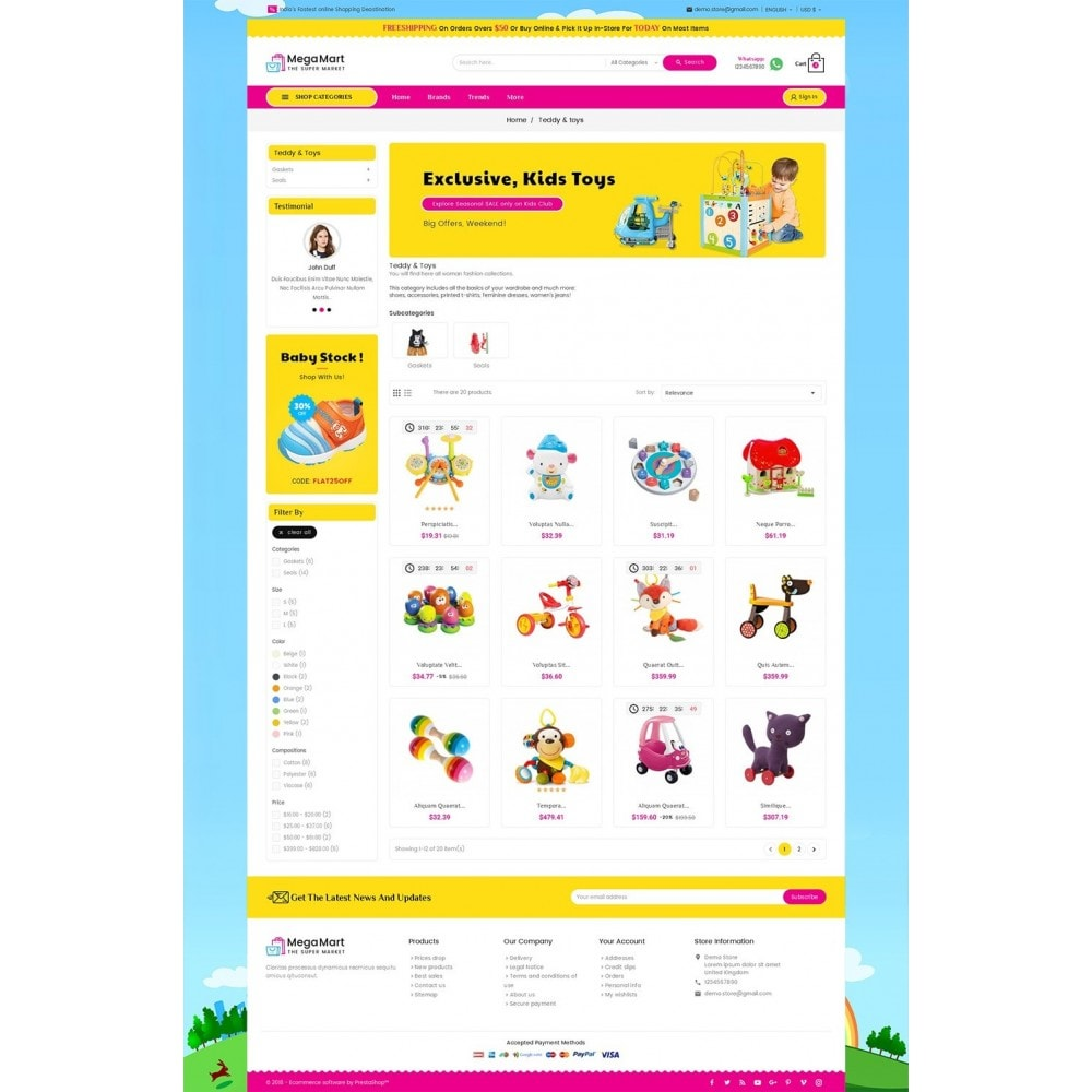 theme - Enfants & Jouets - Mega Mart Kids Toys - 4