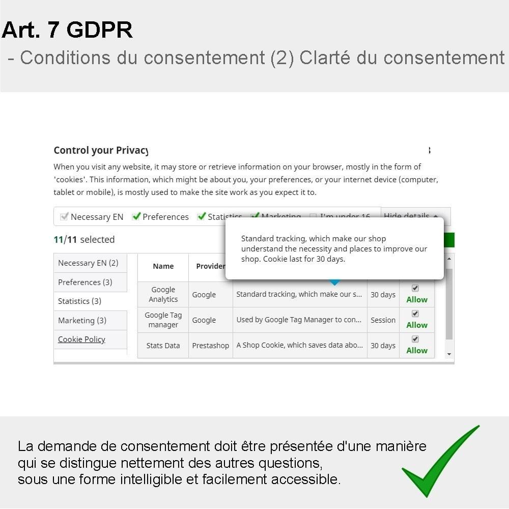 module - Législation - GDPR Compliance Pro - 2021 Édition améliorée - 2