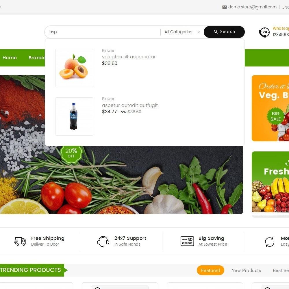 theme - Alimentation & Restauration - Mega Mart Grocery - 11