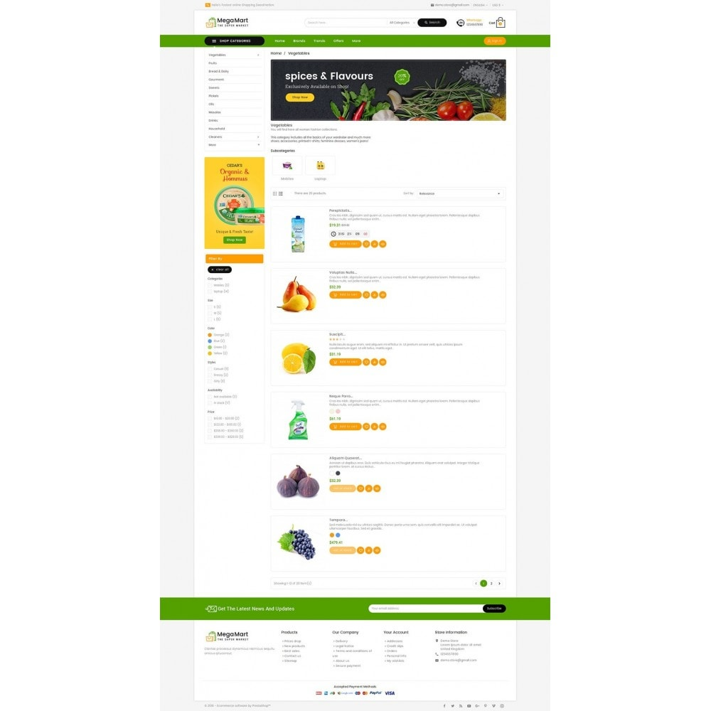theme - Lebensmittel & Restaurants - Mega Mart Grocery - 5